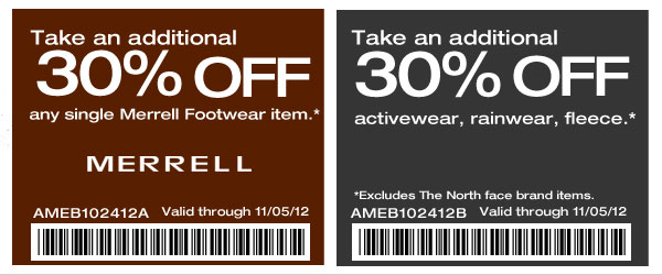 30% off Any Single Merrell Footwear Item Use Any Mountain Coupon